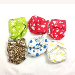 Other - New Lot of 6 Qaqadu Reusable Pocket Cloth Diaper